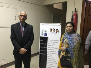 From left ro right: Dr. Abdul Latif Khuhro and Dr. Rahat Naz ( Department Medical Education  Jinnah Sindh, Medical University